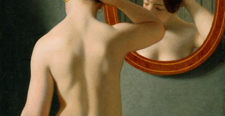 Kvinde foran et spejl af C.W. Eckersberg 1841