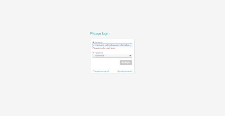 Screenshot af Annalect Nordics loginside