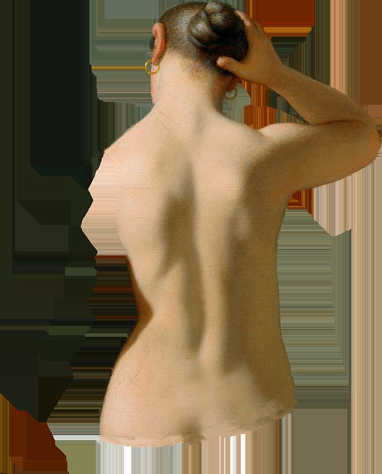 Udklip af ryg
