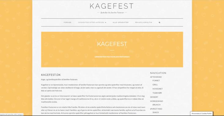 Screenshot af kagefest.dk