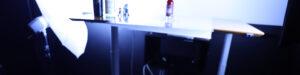 Setup for Himbærbrus med isterningeraf sodavand billedet. Overblik over belysning.