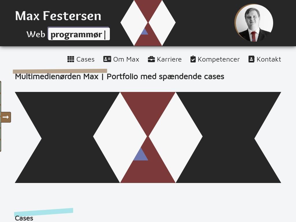 Screenshot af maxfest.dk